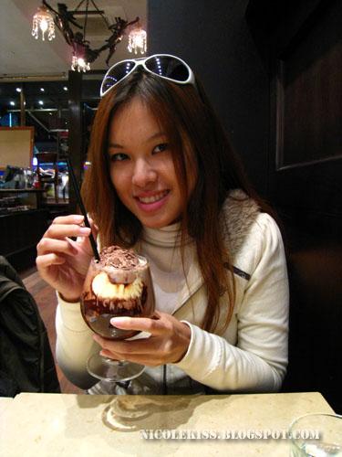 drinking ice chocolate