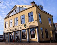 Café Blauwhuis (Hindrik S) Tags: sony sonyalpha a300 alpha300 leeuwarden ljouwert café caféblauwhuis building gebouw huis house blue liwwadden kh2018 kulturelehaadstêd2018 sonyphotographing amount