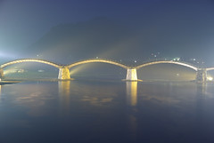Rainy Kintai Bridge (h orihashi) Tags: bridge japan night landscape pentax  yamaguchi soe breathtaking