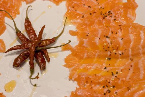 Salmon Crudo with Chili Oil 1