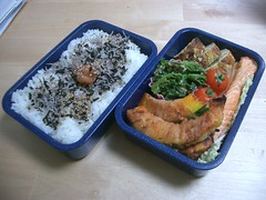 Men's meaty bento (skamegu) Tags: food japan rice bento japanesefood