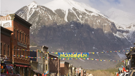 Mountainfilm Banner and Main Street