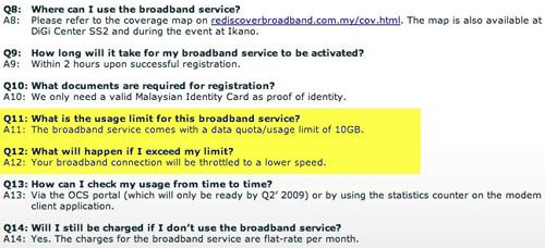 Digi 3G FAQ