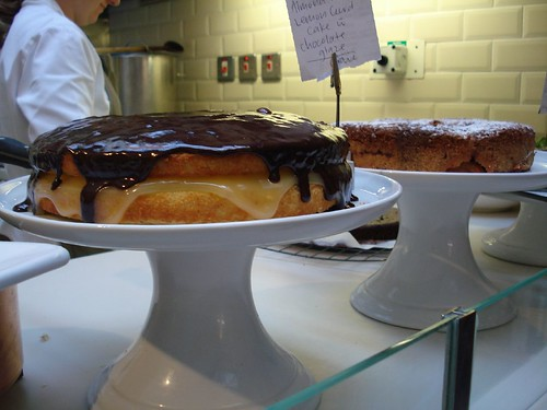 Cakes in the Books for Cooks cafe by RachelH_, on Flickr