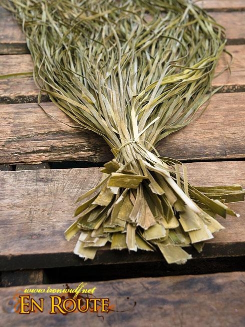 Tawi-Tawi Bajau Village Drying Pandan