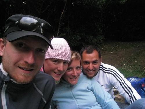 Walter, Karo, Conny und Alex