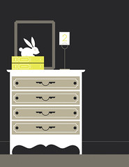 Dresser (Katie Kirk) Tags: two rabbit bunny art love vertical illustration night easter ceramic mirror bedroom hare furniture antique decorative interior victorian lifestyle style books romance retro nighttime frame trendy bedtime ornate decor decorate interiordesign vector eclectic kirk organize tablescape placecard bunnyrabbit shabbychic designelements eighthourday retrorevival katiekirk
