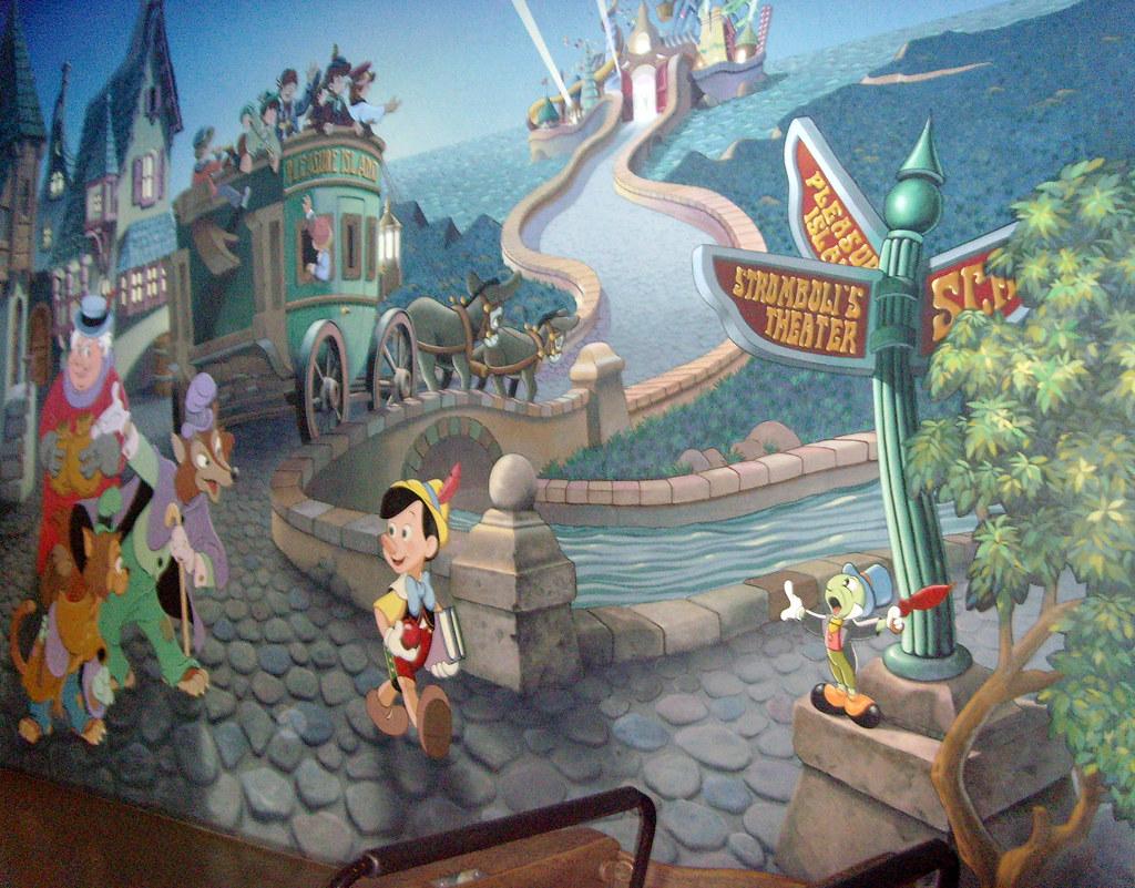 The world 39 s best photos of pinocchio and pleasureisland for Disneyland wall mural