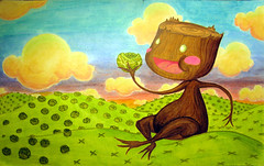 otik supercute (Iain Burke) Tags: wood old friends sky baby tree cute smile sunshine kids fairytale clouds photoshop paper poster fun happy design graphicdesign kid log colours child hand with graphic czech you handmade assignment fake class story eat mockup cheeks greens stump cabbage iain pens february charming amused 2d devour legend parsons 2009 markers myth consume narrative cannibal copic supercute newschool folktale insatiable faerietale illustrationboard copicmarkers shockvalue littleotik otesanek iainburke octopocalypse iainvandoucheberg vandoucheberg