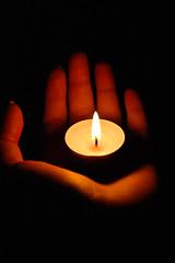 Hope is eternal (sarah.snowdon) Tags: light shadow love hope candle hand joy fingertips eternal