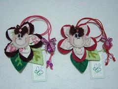 Marcadores de livro bord e rosa (VaneMell) Tags: brasil handmade flor artesanato felt ms feltro pantanal marcadordelivro