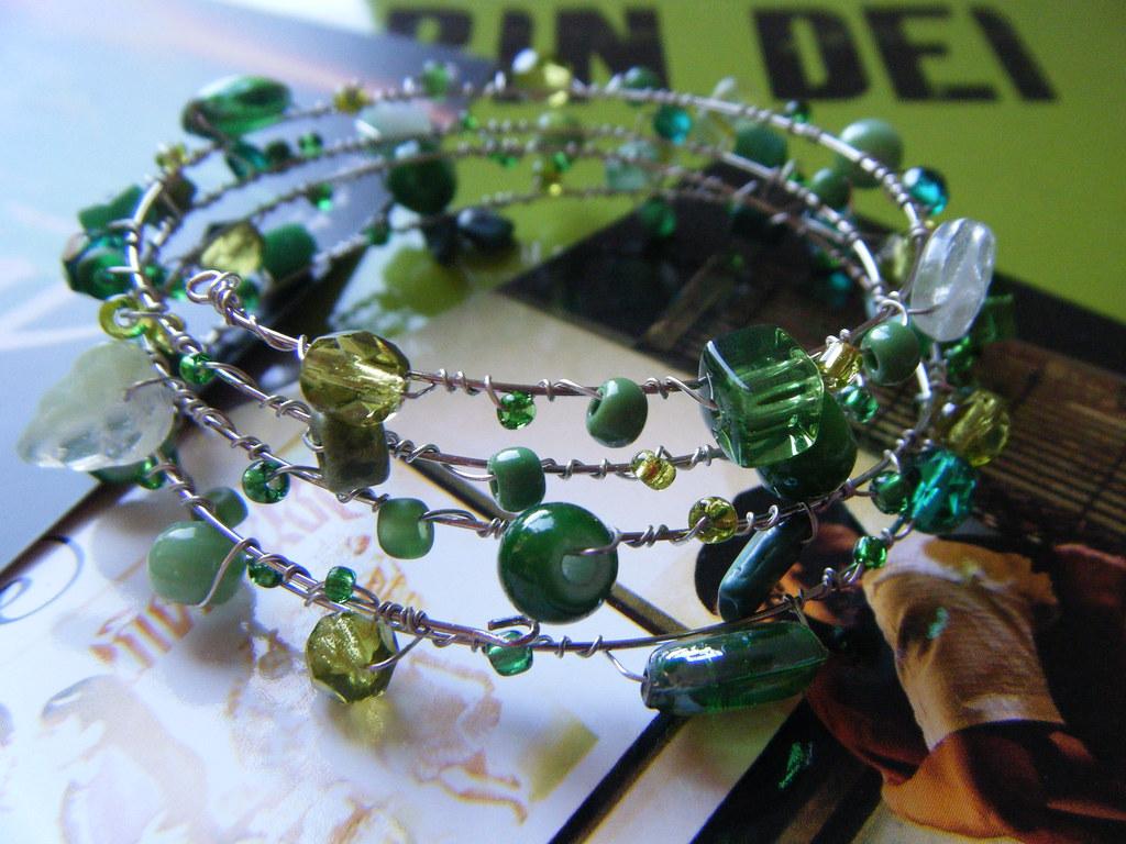 a9ade4bb5b09 Memory Green (Julia Rubio) Tags  verde handmade wrapped bijoux bracelet  pulseiras pulseira artesanía