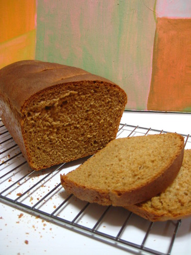 Freshly Baked Whole Wheat Bread