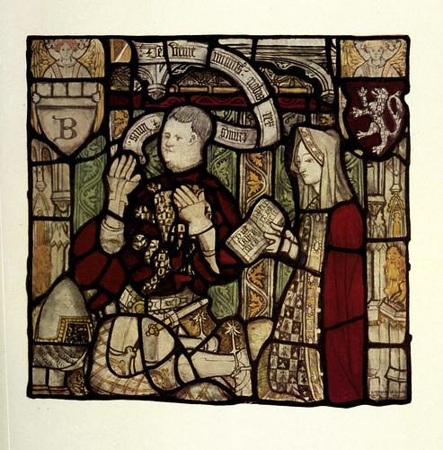 021-Nicolas Blacburn y su esposa vitral oriental de Todos Los Santos- North Street-York siglo XV