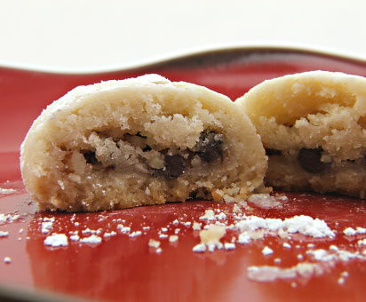 Almond and Chocolate Filled Butter Cookies