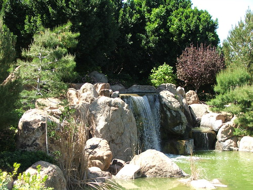 Waterfall in the Japanese Friendship Garden in Phoenix, Arizona