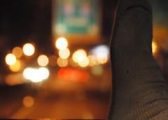 Day 84- Out-the-windshield bokeh (Wishard of Oz) Tags: bokeh bw2 hbw futab feetuptakeabreak project36612009 nyctrip09 nya09
