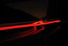 Rotlicht (wurfmaul) Tags: auto light car night licht motorway nacht autobahn langebelichtung