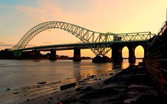runcorn bridge cheshire (plot19) Tags: uk sunset england water nikon cheshire britain brigde runcorn runcornbridge manchestershipcanel plot19