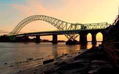 runcorn bridge cheshire (plot19) Tags: uk sunset england water nikon cheshire britain brigde runcorn runcornbridge manchestershipcanel plot19