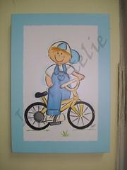 menino com bike (Imer atelie) Tags: bike azul brasil artesanato bicicleta quadro infantil bebe kit decoração madeira menino nene pintura mdf colorido uberaba borba macacão laqueado imeratelie decoraçãoquartobebe
