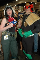 Her?  She's Company to Dredd. (John 3000) Tags: california ca costumes people comics fun cool funny gente sandiego cosplay disfraz movies characters comiccon tankgirl judgedredd jetgirl