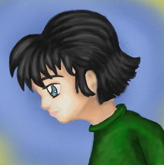akani (alferas9kuw) Tags: blue green eye girl sketch paint flickr drawing romance coloring sai tool      wenter       alferaskuw