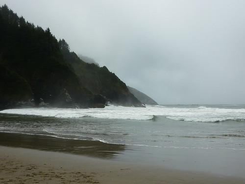 at heceta head, below the light house