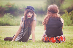 explored. (raychel sonveeco.) Tags: girls friends grass hat outside dress friendship teenagers hippie nikond60