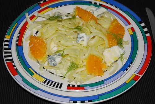 venkelsalade met sinaasappel en gorgonzolla