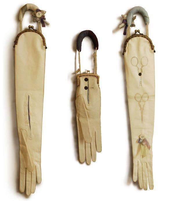 glove purses by Hannah Lamb