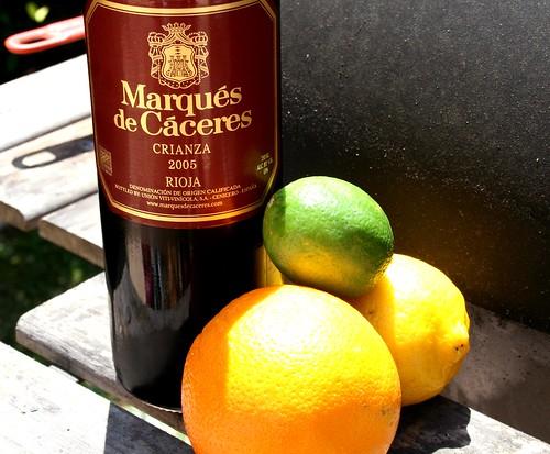 Rioja and fruit