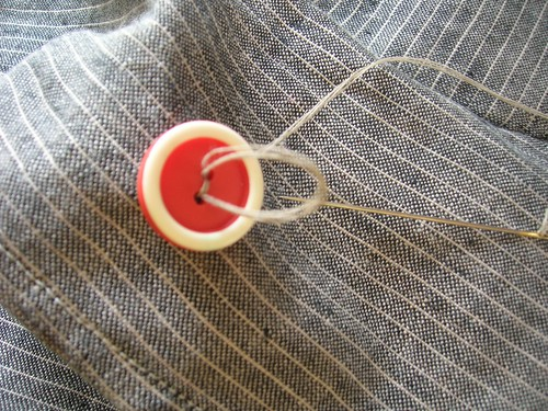 Sewing on buttons: the most delicious final detail.