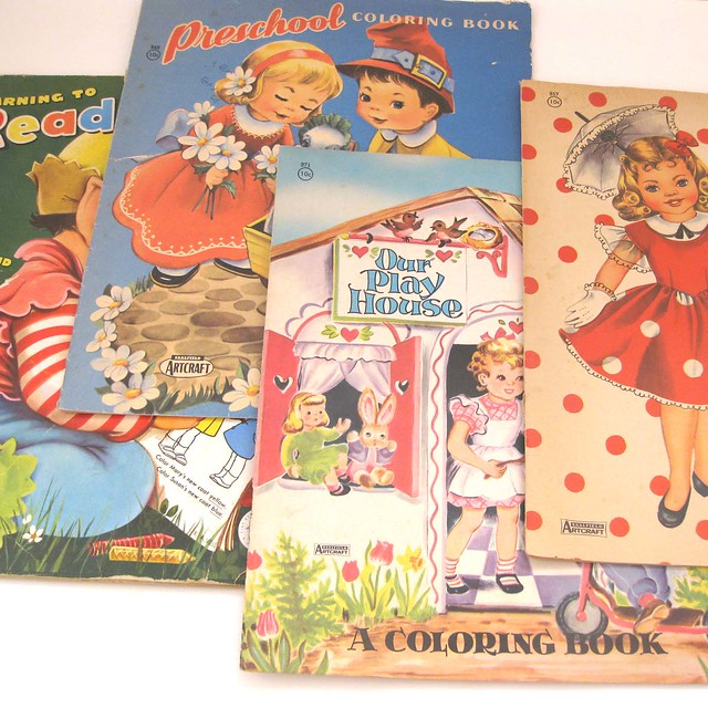 coloring book-set of 4-5 by undoneclothing