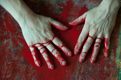 Les mains sales-47 (metatong) Tags: red color painting rouge blood hands acrylic hand main peinture killer murder dexter sang mains guilty murderer coupable acrylique tueur d300 redpaint meurtre meurtrier peinturerouge