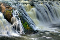 Cohoes Falls Closer (Tyler McCall) Tags: newyork nature water rock river waterfall moss stream falls albany hdr cohoes photomatix canonrebelxs canonefs55250mmf456is canoneos1000d tylermccall