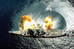 [フリー画像] [船舶/ボート] [軍用船] [戦艦] [BB-61 アイオワ] [BB-61 USS IOWA]      [フリー素材]