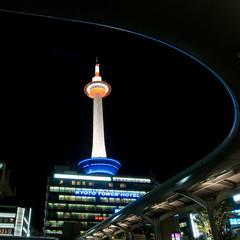 (whc7294) Tags: kyoto   kyototower kyotostation  kyototowerhotel 10faves jrkyotostation harahiroshi hotelgranviakyoto  platinumheartaward nikond300 1424mmf28   jr