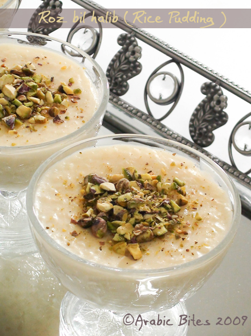 Roz bil halib (Rice Pudding )1
