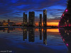 Miami sunset explosion -I (iCamPix.Net) Tags: sunset canon landscape florida miami professionalphotographer miamidade downtownmiami 8506 markiii1ds miamireflection