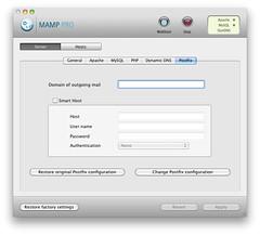 MAMP PRO - Server - Postfix