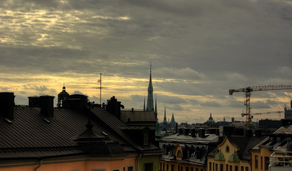 Stockholm: A View From Colonial Hotel Window