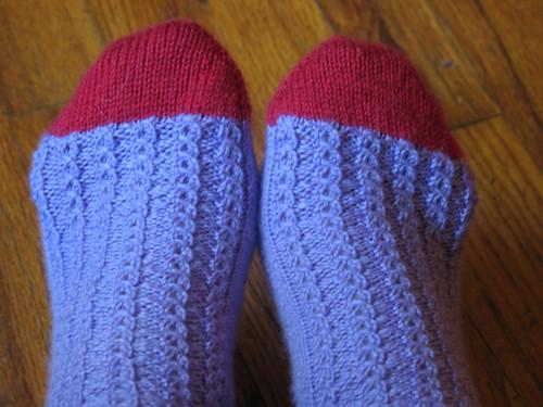Lavendar Socks