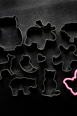 cookie farm (ion-bogdan dumitrescu) Tags: bear pink man black bird animal metal cat butterfly dark duck cookie sheep heart background shapes moose deer plastic biscuit human owl shape cutter cutters bitzi ibdp mg0202x findgetty ibdpro wwwibdpro ionbogdandumitrescuphotography