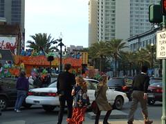 Mardi Gras traffic 2 (ShariLS) Tags: neworleansla mardigras2009