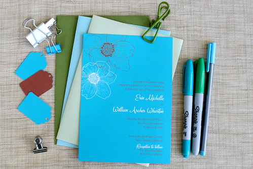 Pacific Beach Bloom Invitation Design