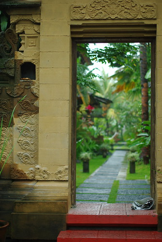 Gate of a house in Bali
