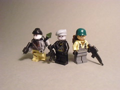 Modern Warfare (Exxtrooper) Tags: 2 black modern grey cool nathan lego painted east made prototype ba trailer minifigs drake custom smg bf accurate p90 prototypes warfare uncharted ac8 brickarms fanboi brickforge