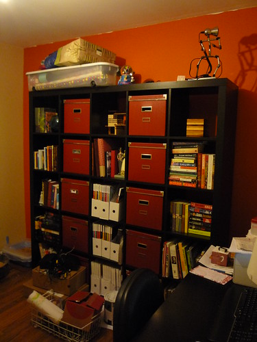 The office/bookcase by you.