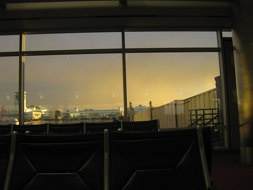 Sunset at Denver Airport